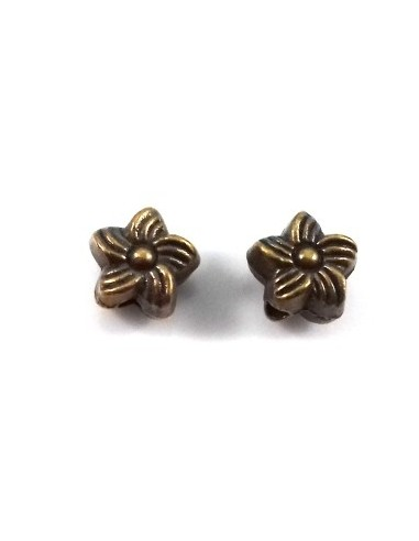 Distantier bronz antichizat floare 6 x 4 mm