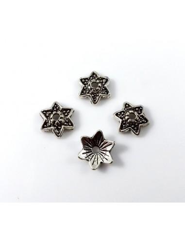 Capac decorativ argintiu antichizat 8 mm