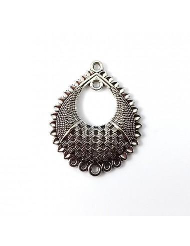 Chandelier metalic argintiu antichizat 38 x 31 mm
