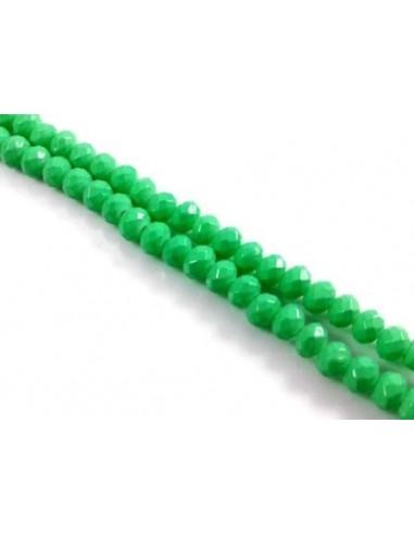 10 Rondele sticla verde deschis 4 mm