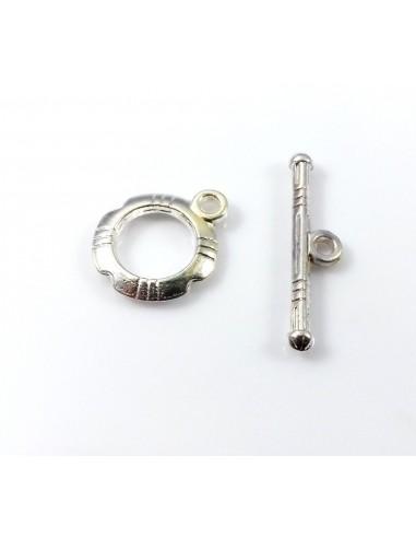 Inchizatoare toggle argintiu deschis 14 x 11 mm