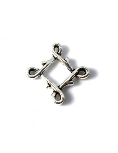 Chandelier (link) metalic argintiu antichizat 4 anouri 21 mm