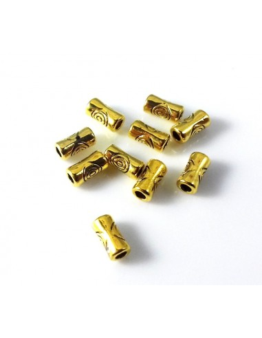 Distantier tubular metalic auriu antichizat 5 x 3 mm