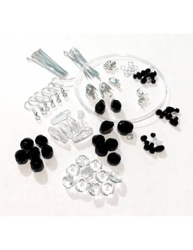 CADOU! Kit 50 mix margele Jablonex Cehia si accesorii bijuterii placate cu argint