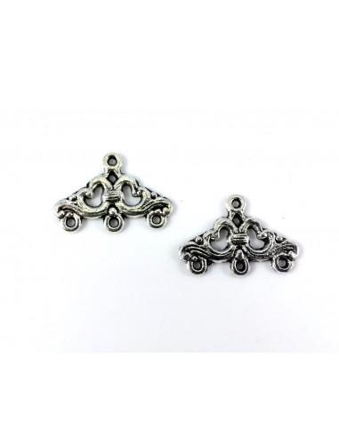 chandelier arginttiu ttriunghiular 24mm