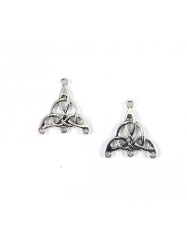 Chandelier argintiu triunghi 29 mm