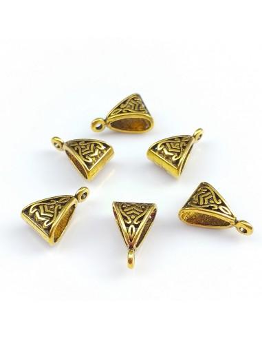 Agatatoare pandantiv auriu antichizat 16 x 11 mm