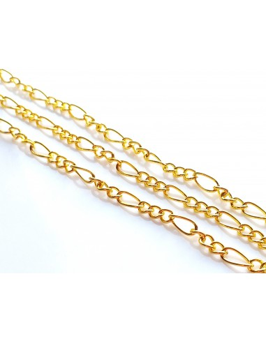 Lant metalic auriu zale rasucite mixte