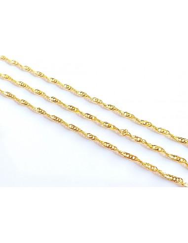 Lant metalic auriu zale rasucite 2.5 x 1.7 mm