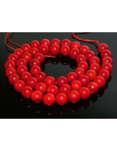 10 Margele coral rosu sferic 4 mm