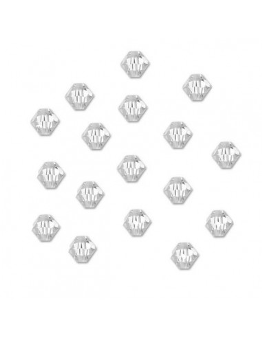 Margele cristal biconic transparent 6 mm