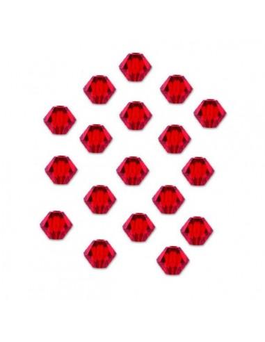 Margele cristal biconic rosu siam 6 mm
