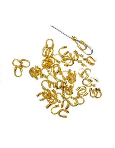 Aparatoare sarma placata cu aur 5 x 4 mm