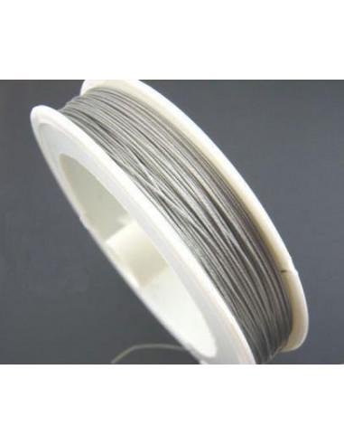 Sarma argintie otel acoperita cu nylon  0.38 mm (1m)