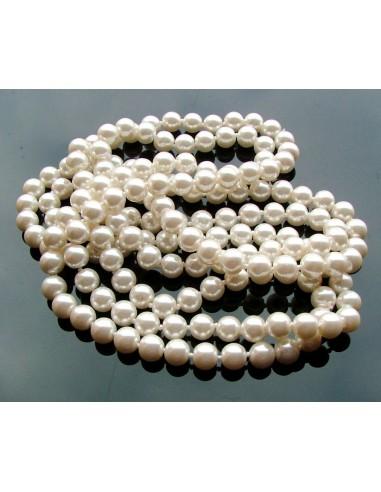 Perle sintetice sferice albe 8 mm