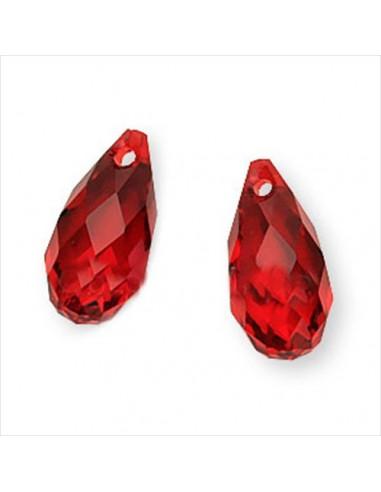 Brioleta fatetata cristal rosu 6 x 11 mm