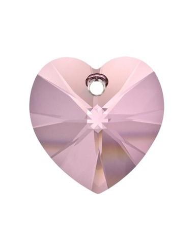 Pandantiv cristal Swarovski inima fatetata 10.5 mm