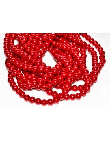 10 Perle de sticla gri 6 mm