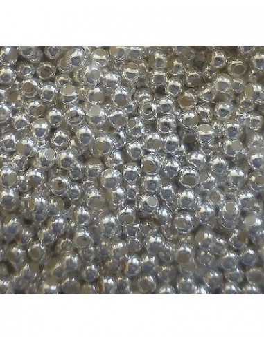 Crimpuri rotunde placate cu argint 1.5x1mm