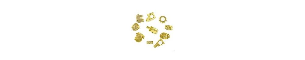 Margele metalice aurii - AccesoriiBijuterii.com