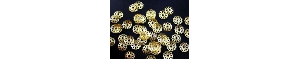 Căpăcele decorative, aurii, placate cu aur