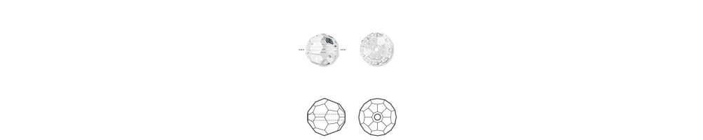Margele, cristal, rotunde