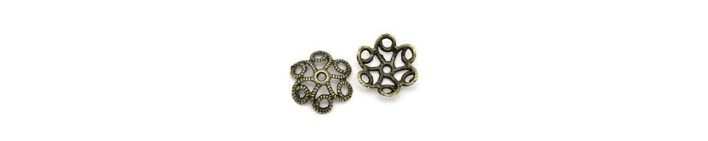 Căpăcele, decorative, bronz, margele