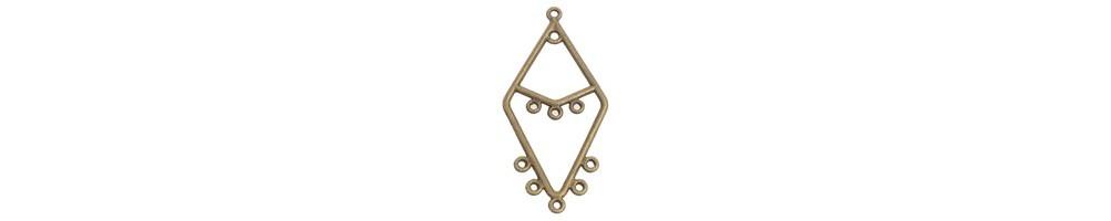 Chandelier, cercei, conectori, bronz