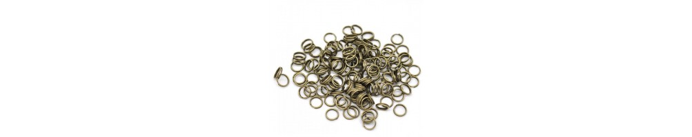 Zale rotunde, ovale, anouri, duble, deschise, sudate aspect bronz