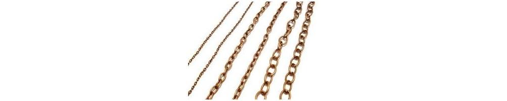 lant, lantisor, cupru, antichizat, furnituri, margele, accesorii bijuterii, inchizatoare