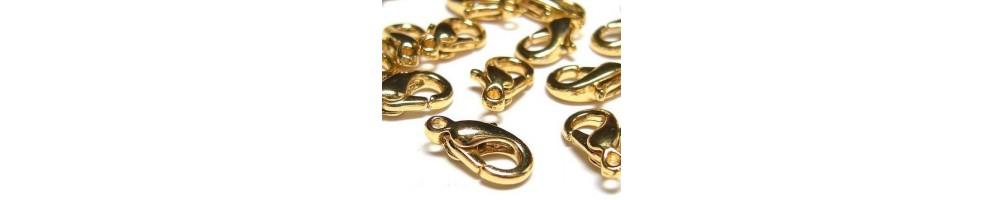 Închizători, lobster, toggle, aurii, placate cu aur
