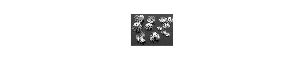 Căpăcele decorative, capace, argintii, placate cu argint