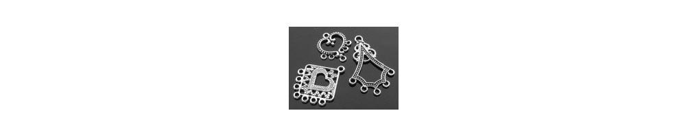 Chandelier cercei, conectori, placat cu argint, argintii