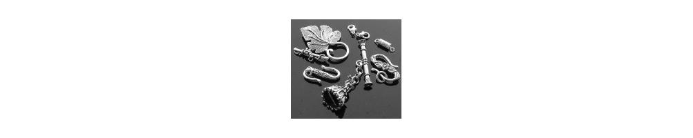Închizători, argintii, lobster, toogle, placate cu argint