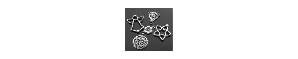 Conectori (link-uri) placat cu argint sau argintii pentru cercei/pandantive/bratari